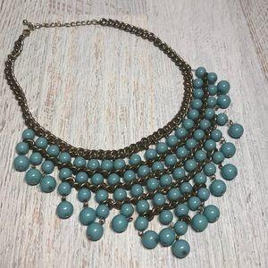 Vintage Turquoise Beaded Bib Necklace